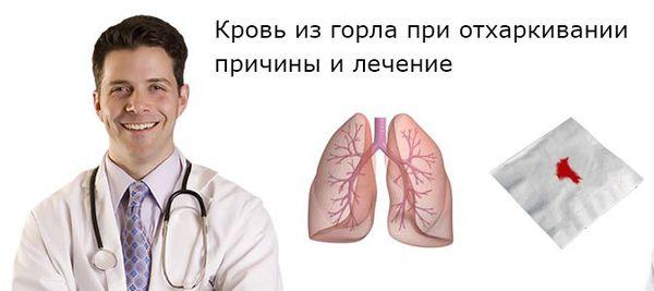 кровь из горла при отхаркивании