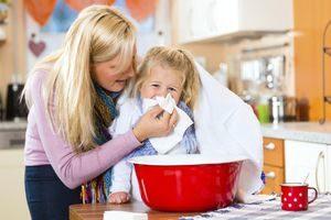 Проведение ингаляции от сухого кашля детям