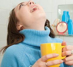 Полоскание горла для детей